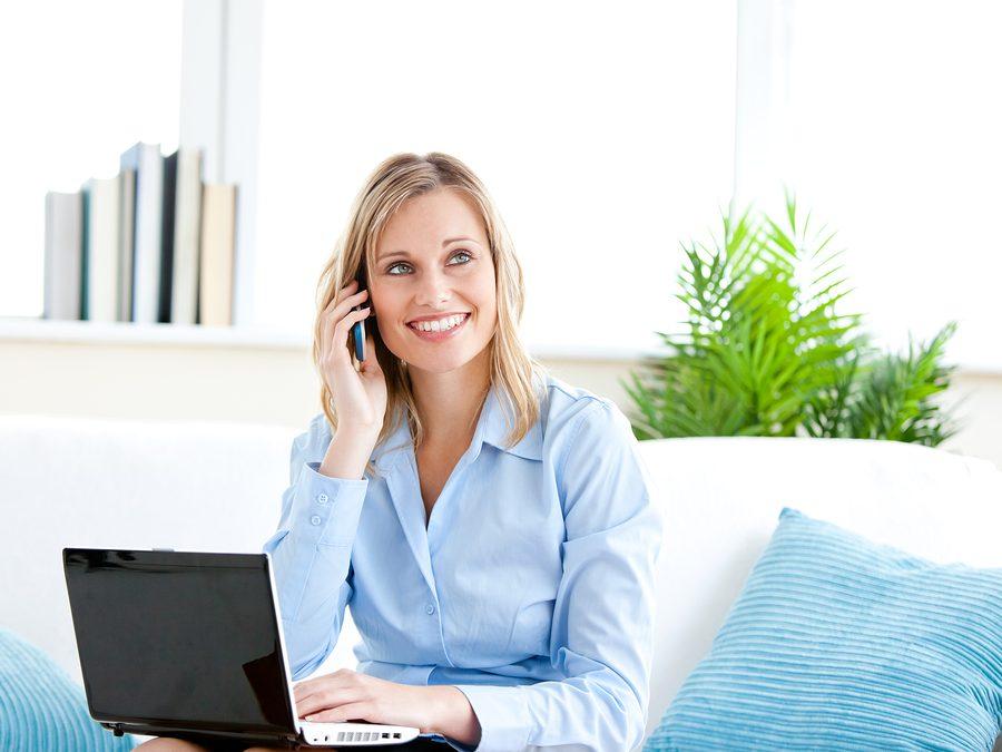 Smiling-Businesswoman-Talking