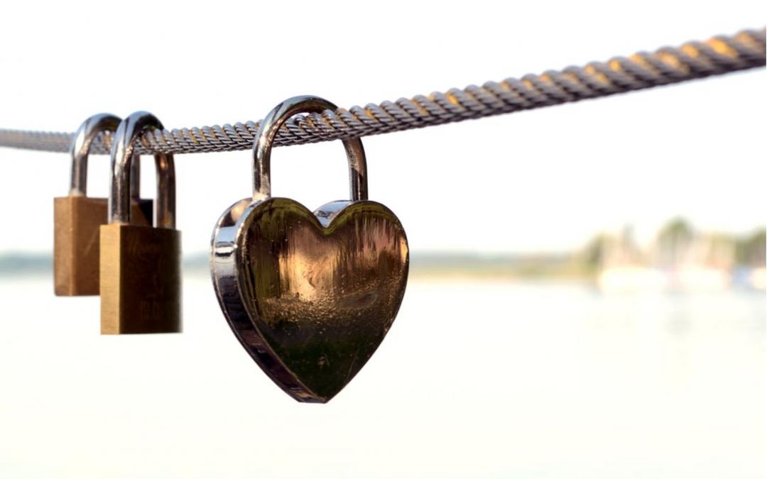 Heart shape lock